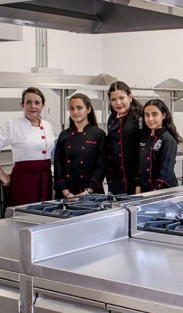 Estudiantes del curso de cocina